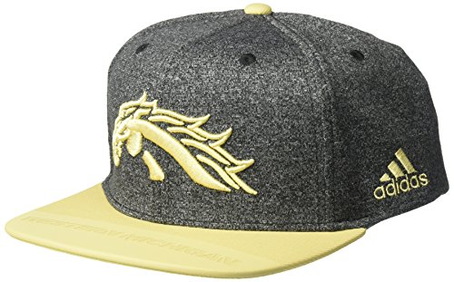 (adidas NCAA Western Michigan Broncos Adult Men Player Flat Brim Snapback, One Size, Black)