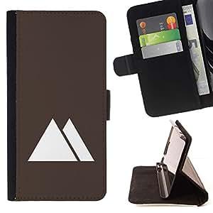 Momo Phone Case / Flip Funda de Cuero Case Cover - Pirámides de Egipto minimalista de Brown - Sony Xperia Style T3