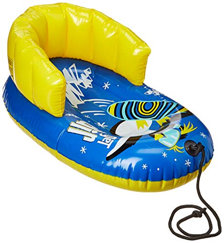 Aqua Leisure Pipeline SNO Air Penguin Snow-Pal Inflatable Kids Snow Tube with High Back Seat and Repair Kit, 33