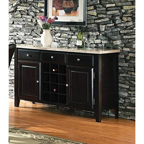 - Greyson Living Malone Marble Top Server with Wine Storage