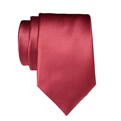 Plain Polyester Classic Neckties Ties Satin Colors Party Solid in Pure 12 Formal Neck Men 22 Color Wedding for burgundy Work S4wxYI
