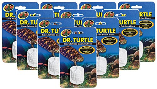 Zoo Med 10 Pack of Dr.Turtle Slow-Release Calcium Block (Turtle Sulfa Block)