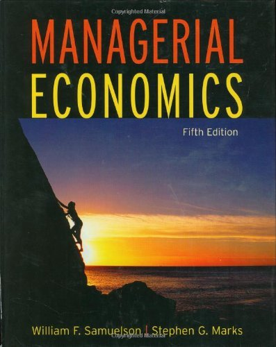 Managerial Economics: 55th (Fifth) Edition
