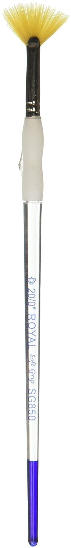 Soft-Grip Golden Taklon Fan Brush-Size 20/0 Notions - In Network SG850-20/0