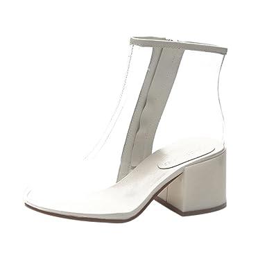 Pvc À Talons Sexy overdose Transparent Hauts Chic Vinyle High Femme En Talon Bottines Chaussures Bottes Boots Sandales Heel 2WEHYD9I