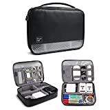 Travel Organizer Bag, Universal Electronics Accessories Organizer, Cable Organizer Bag, Travel Carrying Case Storage Bag for USB Cable, Power Bank, Charger, Mouse, Adapter - L