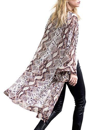 (Women's Beach Belted Kimono Jacket Wide Bell Sleeve Sheer Floral Cardigans)