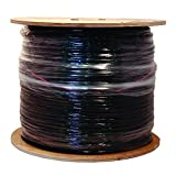 LOGICO RG6 Quad Shield 18 AWG Satellite TV Black 500' Feet ft Coaxial Coax Cable Wire