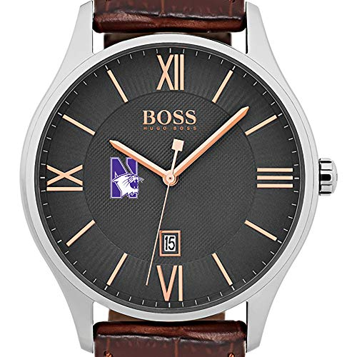 Northwestern University Men's BOSS Classic with Leather Strap from M.LaHart