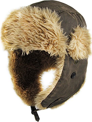 KBW-618 DBR Aviator Trapper Bomber Hat Trooper Winter Cap Ski]()