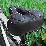 Universal-Top-Product-Sella-Bici-Sella-MTBSella-Bici-ComodaConfortevoleUnisexImpermeabile-con-Schiuma-Memory-e-Sistema-di-Flusso-dAriaSella-Bici-in-GelDoppio-Assorbimento-degli-Urti