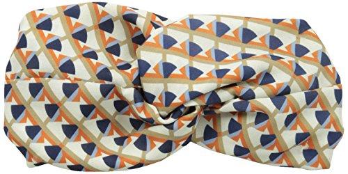 Genie by Eugenia Kim Women's Penny Geo-Print Turban Headband, Ivory/Orange/Blue, One Size