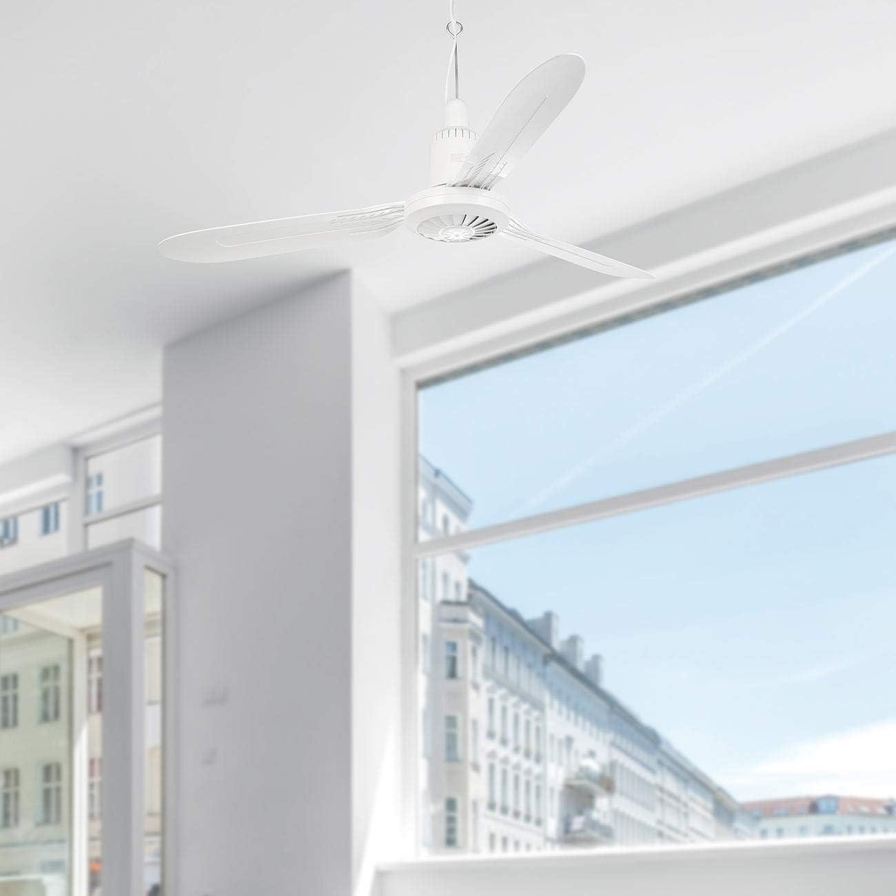 105cm Sichler Haushaltsger/äte Ventilateur de plafond mobile 3 pales /à suspendre VT-312.m avec minuteur