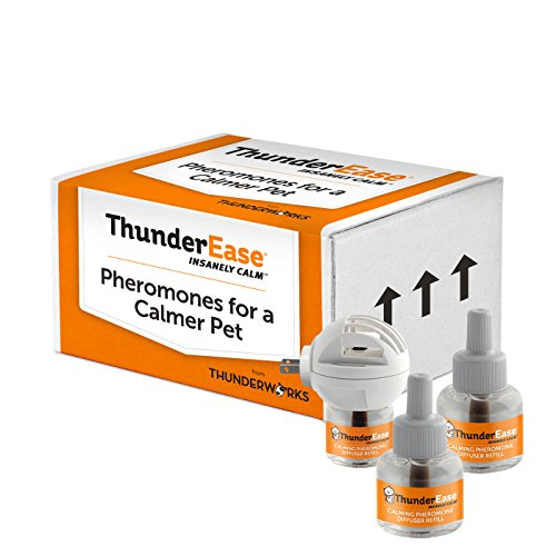 ThunderEase Cat Calming Pheromone Diffuser Kit - Reduce Scratching, Urine Spraying, Marking and Anxiety (90 Day Supply) from ThunderEase