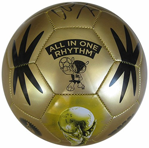 David Villa, New York City FC, Spain, Signed, Autographed, Gold Soccer Ball, a Coa with the Proof Photo of David Signing the Ball Will Be Included