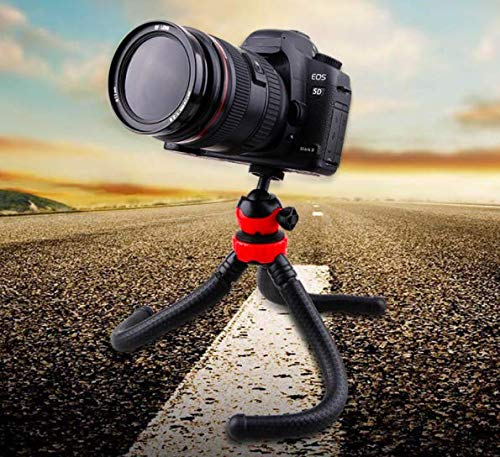 Giffy™ Flexible Tripod (12 Inch Height) for Camera, DSLR and Smartphones with Universal Mobile Attachment- Gorilla pod for Photography, You-tuber's, Videography, Shooting Films Tripod Stand