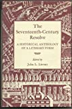 The Seventeenth-Century Resolve, John L. Lievsay, 0813113938
