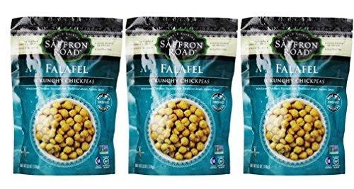 Falafel Spice (Saffron Road Crunchy Seasoned Chickpeas, Falafel Flavor - Pack of 3, 6 Ounces each by Saffron Road)