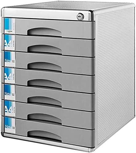 デスクトップ内閣、オフィスや家庭ストレージボックスのために7層を持つ引き出し、文書のキャビネットチェストファイリングロック可能なファイルキャビネット