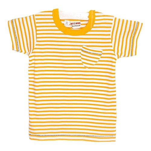 BITZ KIDS Little Boys' Stripe Pocket T-Shirt in Orange -