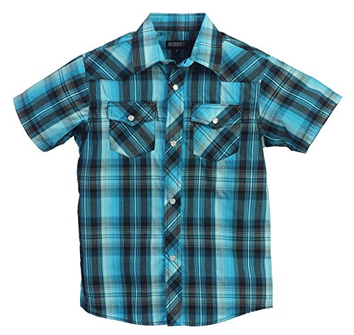 gioberti-boys-casual-western-plaid-pearl-snap-short-sleeve-shirt-teal-size-4
