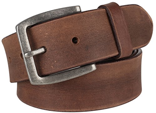 Men's 100% Cowhide One Piece Leather Belt,w/ Snaps for Interchangeable Buckles,brown,size 36,# 9702 Distressed Vintage Belt