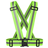 Meyerglobal Reflective Vest, High Visibility, Safety Adjustable Belt Regular Size (10piecesGreen, Regular Size)