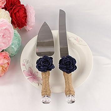 Etbotu Rustikale Blaue Rose Brautduschen Geschenk Mit Leinwand