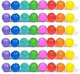 Playz 50 Soft Plastic Mini Play Balls w/ 8 Vibrant Colors -...