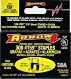 Arrow Fastener 591189BL 5/16'' X 5/16'' Black T59 Staples
