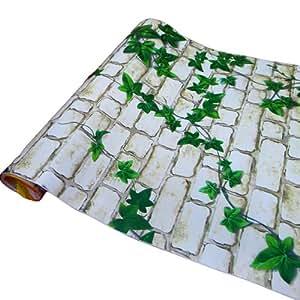 Bestofferbuy papel contact muro de piedra para pared movible pvc autoadhesivo 5m 16pies amazon - Papel pared autoadhesivo ...