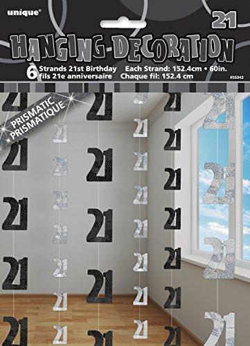 Unique 5ft Hanging Glitz Black 21st Birthday