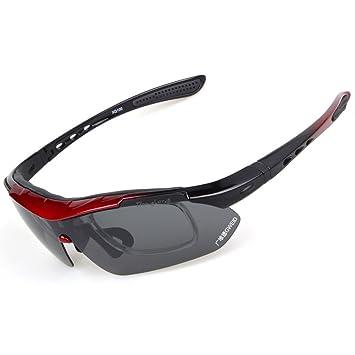 Bang larga polarizadas con 5 lentes intercambiables gafas de sol Sport corta y mallas