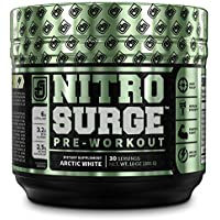 JACKED FACTORY NITROSURGE Preworkout Supplement-Energy Booster, Instant Strength Gains, Clear Focus, Intense Pumps…
