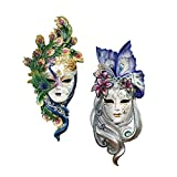 Design Toscano Inc Mask of Venice Wall Sculpture: Peacock Butterfly Masks