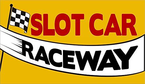 - Slot Car Raceway by RetroPlanet Laminated Art Print, 17 x 10 inches