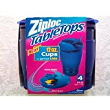 9ed975f2cfeb Amazon.com: Ziploc Table Tops 4 Sandwhich Plates with Snap 'N Seal ...