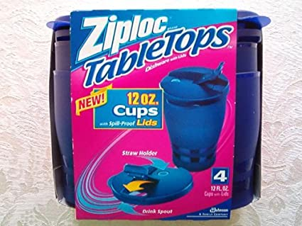 Ziploc TableTops 4 Cups with Spill-Proof Lids & Amazon.com | Ziploc TableTops 4 Cups with Spill-Proof Lids: Kitchen ...