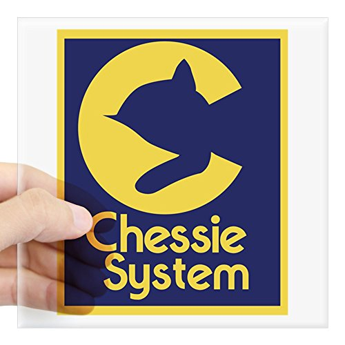 CafePress Chessie System Sticker Square Bumper Sticker Car Decal, 3
