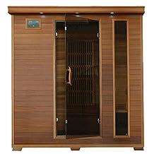 KLONDIKE - 4 Person FAR Infrared Cedar Sauna with Carbon Heaters