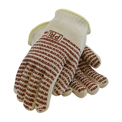 Hot Mill Knit (PIP 43-502S Double-Layered Cotton Seamless Knit Hot Mill Glove with Double-Sided EverGrip Nitrile Coating, 24 oz.)