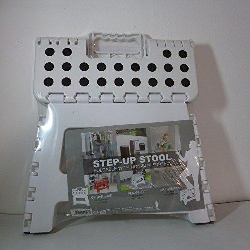Eccellente Houseware Small/ /Sgabello pieghevole/ 36x32x4cm /Capacit/à 100/kg plastica White