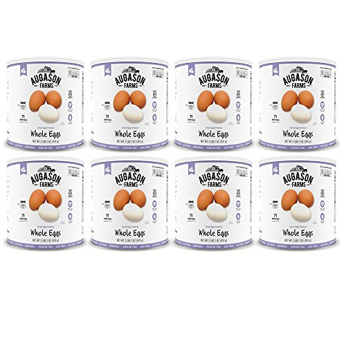 Augason Farms Whole Egg Product 33 oz #10 Can (8 Pack) by Augason (Image #1)