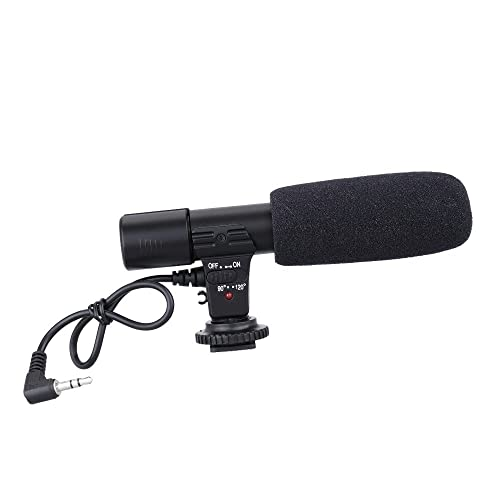 Andoer Mic-01 Digital Video DV Camera Studio Stereo Camcorder 3.5mm Recording Microphone for Canon Nikon Pentax Olympus