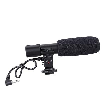 Andoer Sidande MIC-01 - Micrófono de grabación para cámara réflex digital DV o videocámara