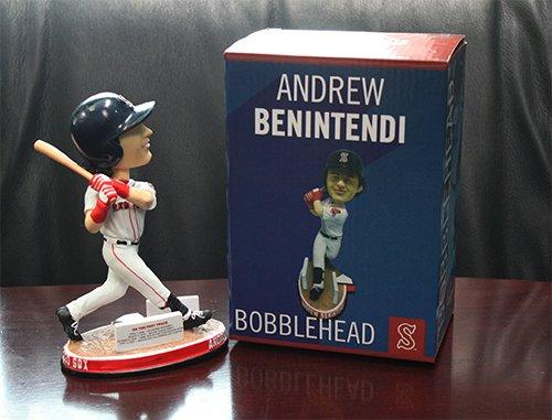 Salem Red Sox Andrew Benintendi 2017 Stadium Promo Bobblehead Benny Biceps released September 1st, 2017