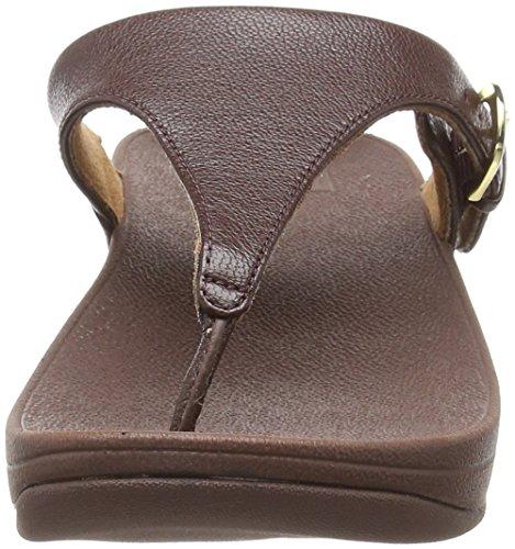 Sandalias Leather Mujer espresso Fitflop Sandals Marrón Skinny thong Toe 557 Abierta Con Punta fqqSXp