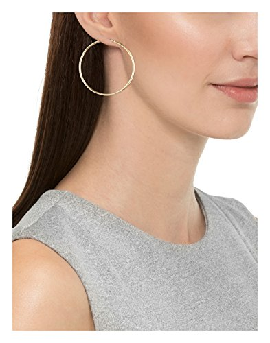"14k Yellow Gold Hoop Earrings (2"" Diameter)"