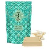 Cocoa Butter Raw Pure Unrefined - 1 LB Food Grade Bar. Incredible Natural