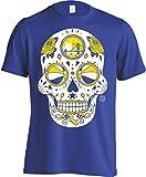 America's Finest Apparel Golden State Basketball Sugar Skull Men's Shirt (3XL)